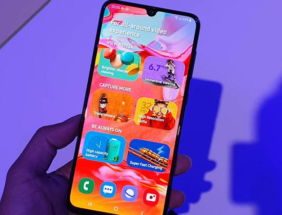 Cách chụp màn hình Samsung A70