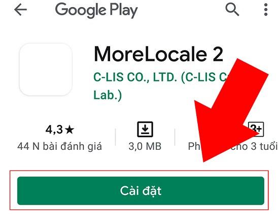 Cách cài ứng dụng MoreLocale 2