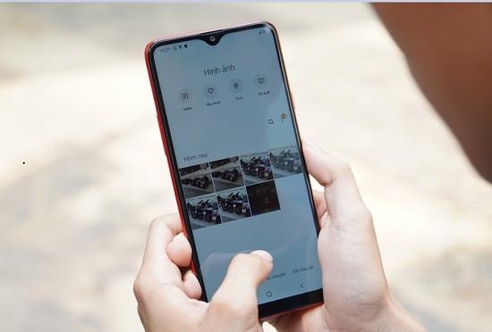 Dấu hiệu camera trước Samsung A20s bị hư