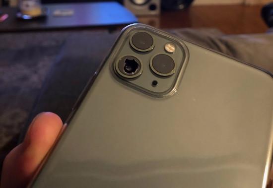 Kính camera iPhone 11 Pro bị bể