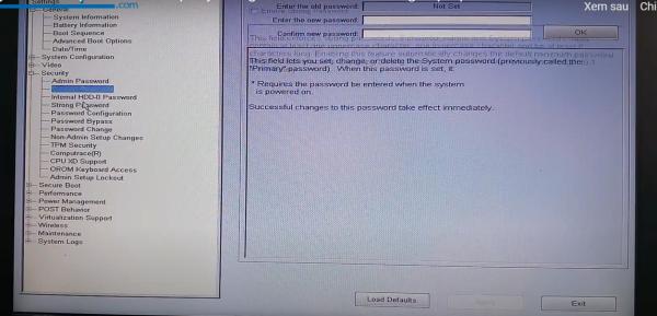 Cách khắc phục laptop bị khóa BIOS