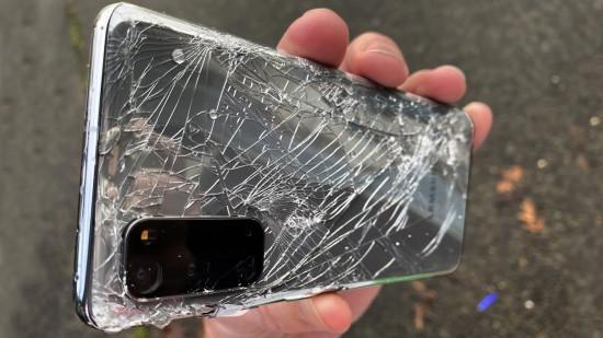 Nắp lưng Samsung S20 bị bể