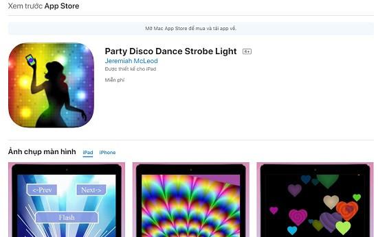 App đèn nháy theo nhạc cho iPhone