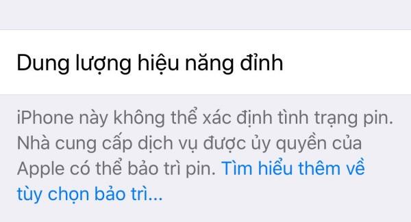 iPhone không xác định được tình trạng pin