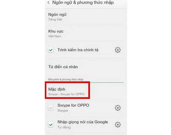 Khắc phục Oppo bị mất bàn phím