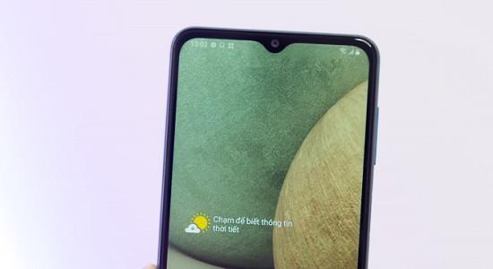 Nhận biết camera trước Samsung A12 bị hư hỏng