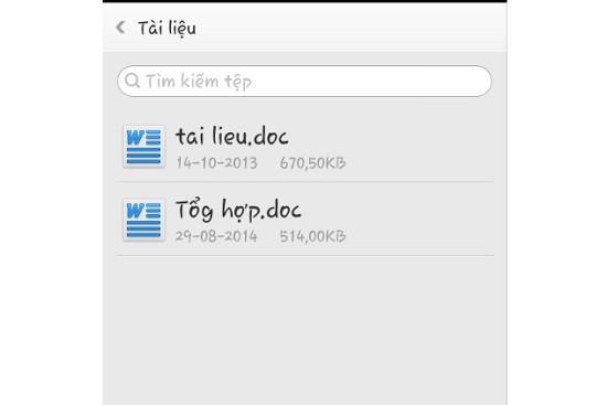 Điện thoại Oppo không mở được file word
