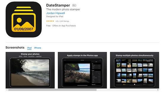 Phần mềm ảnh có tọa độ thời gian trên iPhone