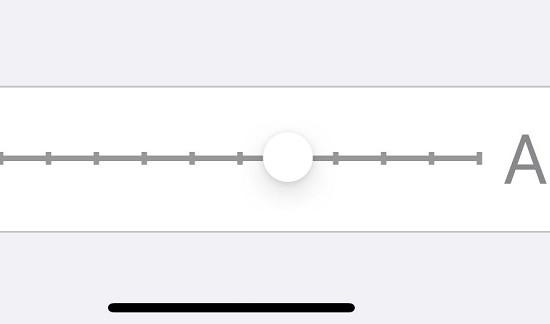Thanh tăng cỡ chữ trên iPhone to hơn nữa