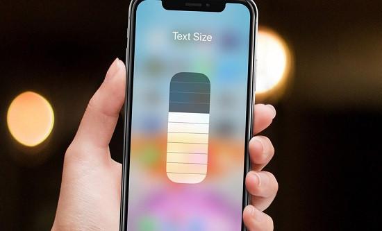 Phóng to chữ trên iPhone