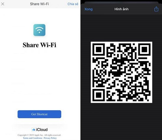 Tạo mã QR wifi iPhone