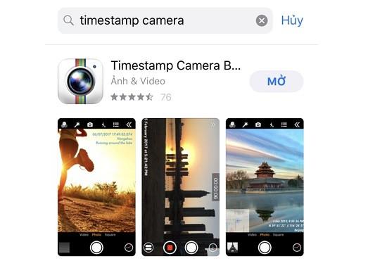 Phần mềm chụp ảnh có ngày giờ trên iPhone