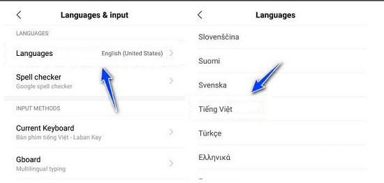 Cách cài đặt tiếng Việt cho Xiaomi