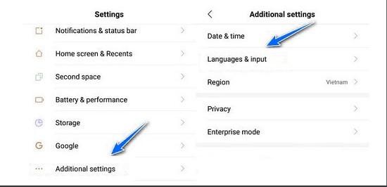 Cài tiếng Việt cho Xiaomi