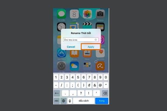 Đổi tên ứng dụng trên điện thoại iPhone
