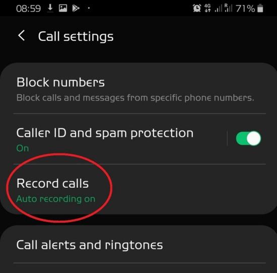 Cách tìm file ghi âm cuộc gọi