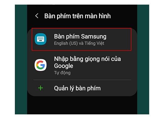 Khắc phục lỗi bàn phím Samsung