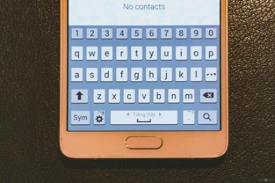 Bàn phím Samsung không có nút xuống dòng
