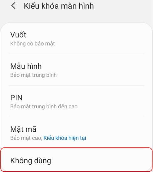 Cách vô hiệu hóa màn hình khóa Android