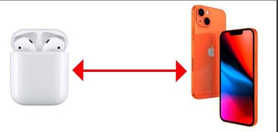 Khoảng cách giữa iPhone và Airpods quá xa