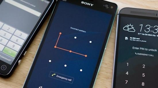 Có nhiều cách mở khóa màn hình Android khác nhau