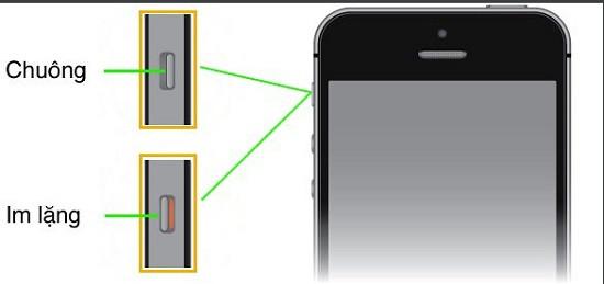 Tắt âm bàn phím bằng cần gạt rung trên iPhone