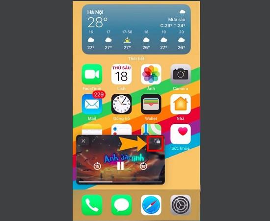 Tắt video thu nhỏ iOS 14