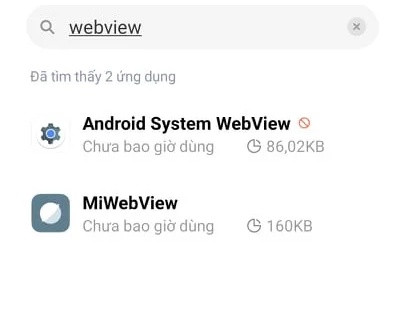 Android Webview trên Xiaomi