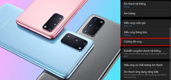 Cách tăng độ rung cho Samsung