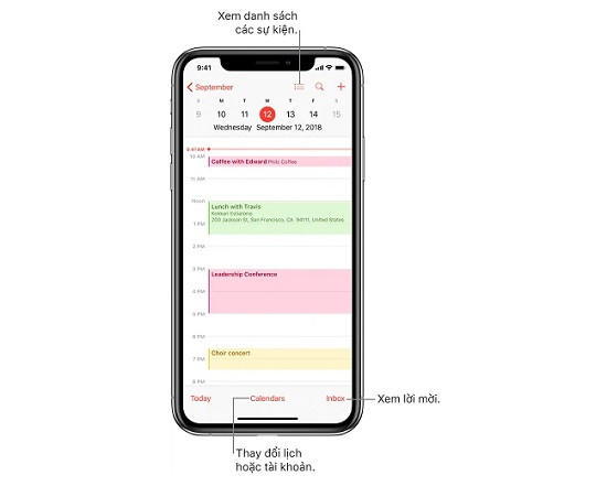 Cách tạo sự kiện trên lịch iPhone