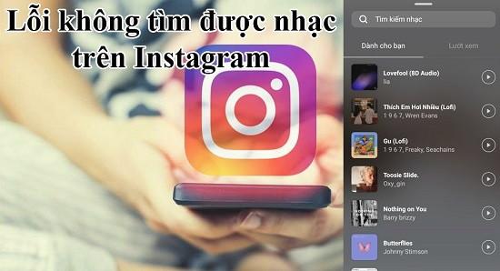 Không tìm được nhạc trên Instagram