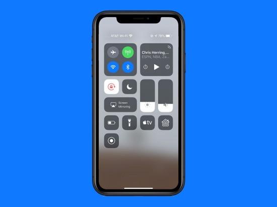 Không vuốt được Trung tâm kiểm soát trên iPhone