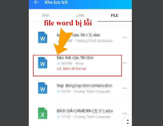 File word bị lỗi