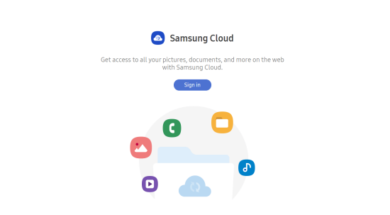Tài khoản Samsung Cloud