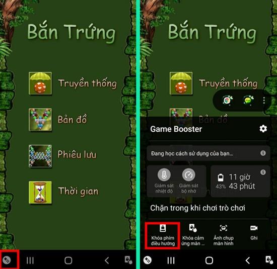 Vô hiệu hóa phím điều hướng android khi chơi game