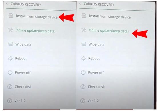 Cách khắc phục khi Oppo bị lỗi ColorOS Recovery
