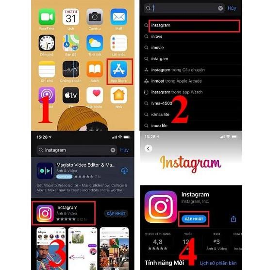 Cập nhật instagram trên ios
