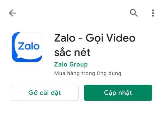 Cập nhật Zalo