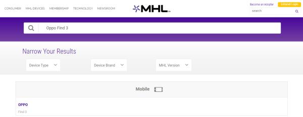 Điện thoại Oppo có MHL không?
