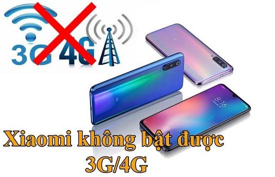 Điện thoại Xiaomi không bật được 3G/4G