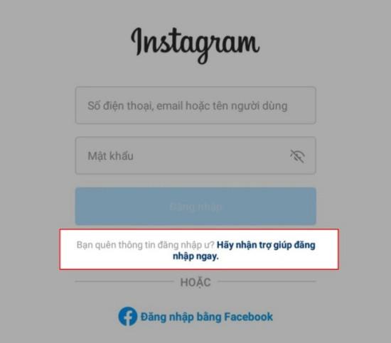 Cách lấy lại Instagram khi quên mật khẩu trên điện thoại bước 1