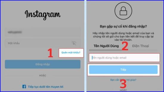 Đổi mật khẩu Instagram trên máy tính bước 1