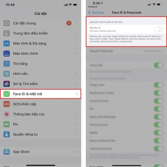 Dùng iOS 14.5 mở khóa Face ID đeo khẩu trang