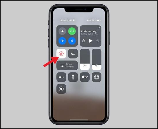 Khóa xoay màn hình iPhone