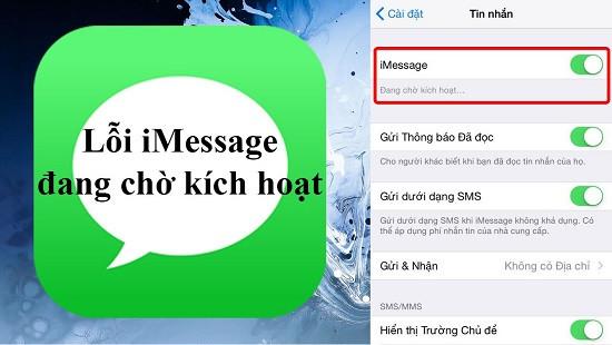 Lỗi iMessage đang chờ kích hoạt