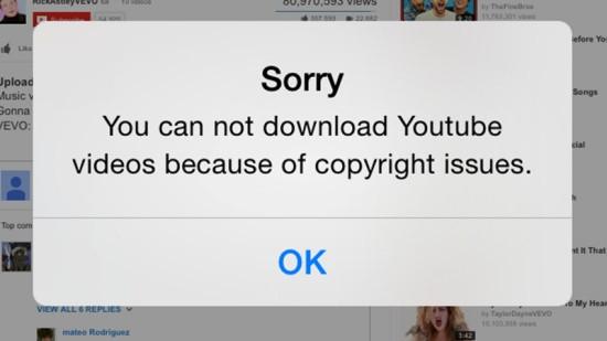 Nguyên nhân không tải được video Youtube về điện thoại