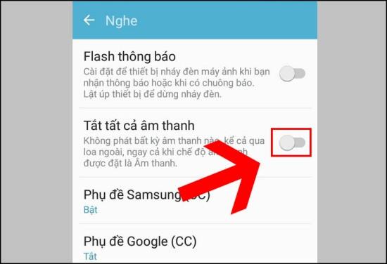 Nguyên nhân Samsung bị tắt tất cả âm thanh
