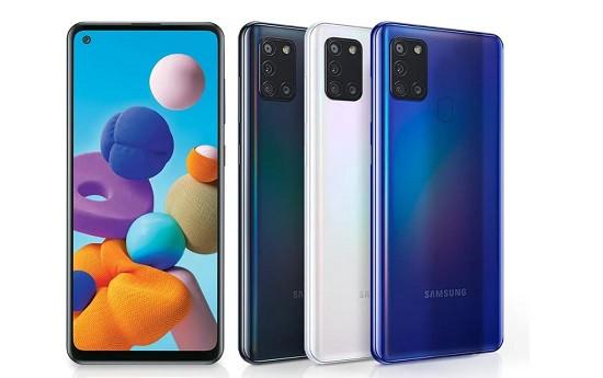 Samsung A21s có ngoại hình bắt mắt