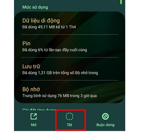 Tắt ứng dụng chạy ngầm trên điện thoại Android