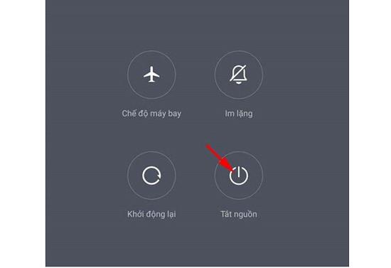 Tắt nguồn điện thoại Xiaomi